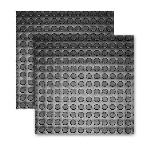 Tapete Piso Borracha Moeda 4 Placas 0,50x0,50m (1m²) Full