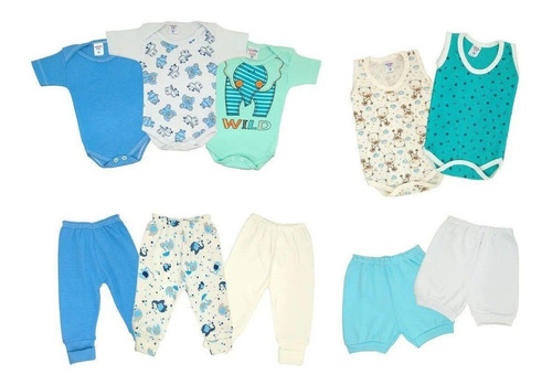 Kit 10x Roupas De Bebê Verão Enxoval Body + Mijão - Meninas