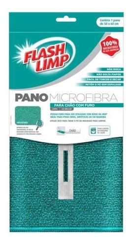 Pano De Chão De Microfibra Com Furo 50cm X 60cm - Flash Limp