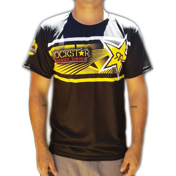 Remera Moto Rockstar Manga Corta Livianas Spoon Sublimada Am