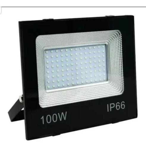 Refletor Led 100w Holofote Bivolt Prova Dágua Ip66 Frio