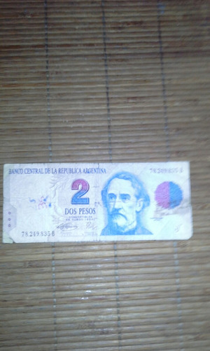 Billete De 2 Pesos Republica Argentina
