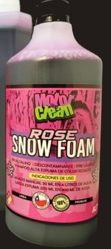 Shampoo Rose Snow Foam De Motorclean(espuma Rosada).1 Litro
