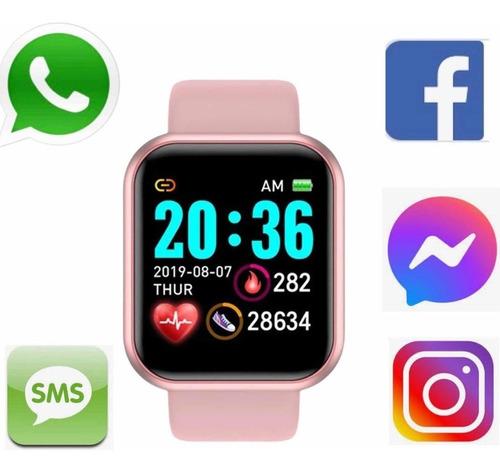 Relógio Inteligente Smartwatch Feminino Whats E Facebook