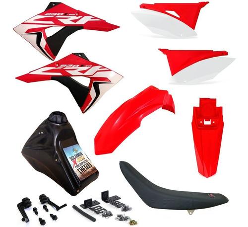 Kit Plastico Roupa Crf 230 Adaptável Xr 200 Xr 250 Xlx 350