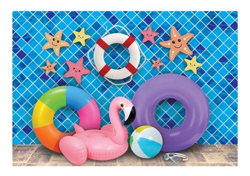Fundo Fotográfico Newborn Piscina Verão 1, 60x2, 20 Pn 245