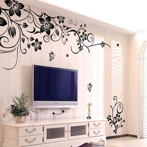 Mural Decoraivo Sticker Home Removible Flores Art Vinyl