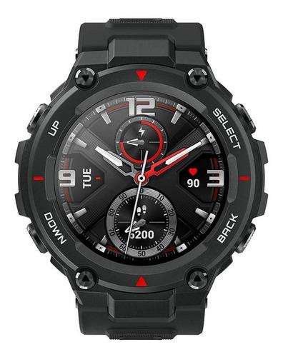 Smartwatch Amazfit Sport T-rex 1.3  Caja 47.7mm De  Polímero  Rock Black Malla  Rock Black De  Silicona A1919
