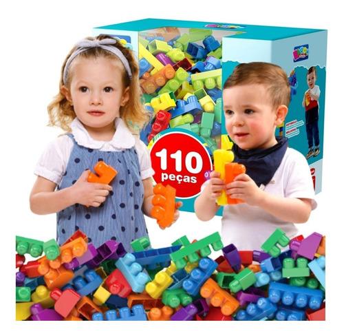 Blocos Montar Infantil Grande Brinquedo Educativo 1 Ano