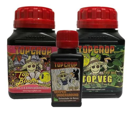 Kit Tripack De Fertilizante 3 Fases Nutrientes Top Crop