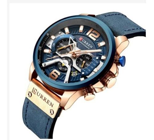 Relógio De Luxo Curren Original Cronógrafo Quartzo