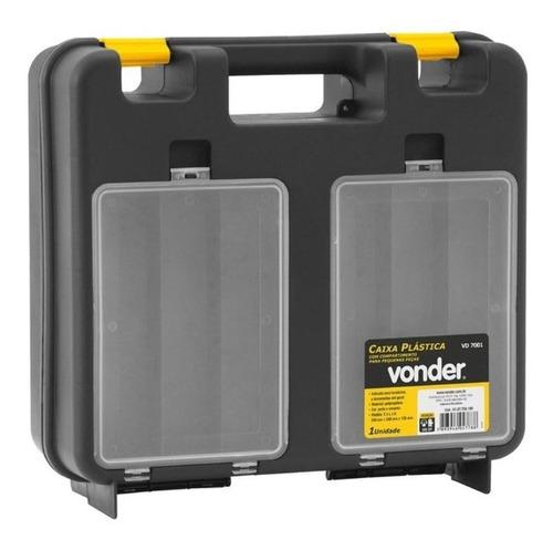 Caixa De Ferramentas Vonder Vd 7001 De Plástico 340mm X 340mm X 130mm Preta/amarela