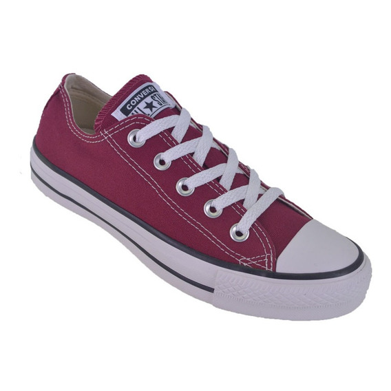 Zapatilla Converse All Star Low Lona Color Original Bordó
