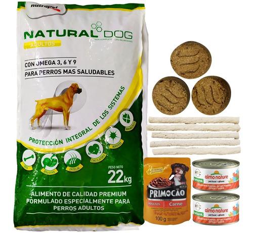Comida Perro Adulto Natural Dog 22 Kg + Regalo + Envío