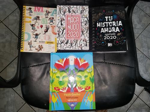 Agendas 2020 - Macanudo, Tu Historia Ahora, Paulo Coelho.