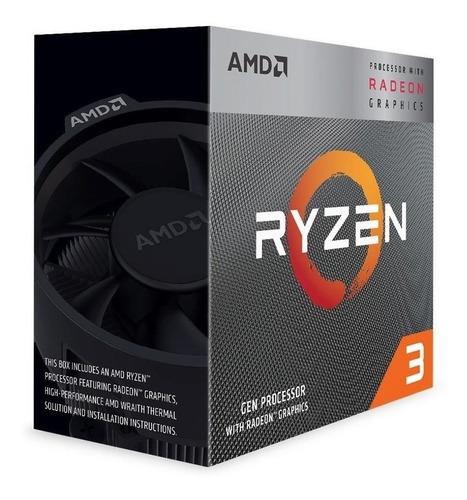 Procesador Gamer Amd Ryzen 3 3200g Yd3200c5fhbox De 4 Núcleos Y 3.6ghz De Frecuencia Con Gráfica Integrada