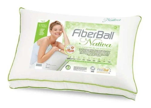Combo 2 Almohadas Nativa Fiberball Esferas Siliconada Percal