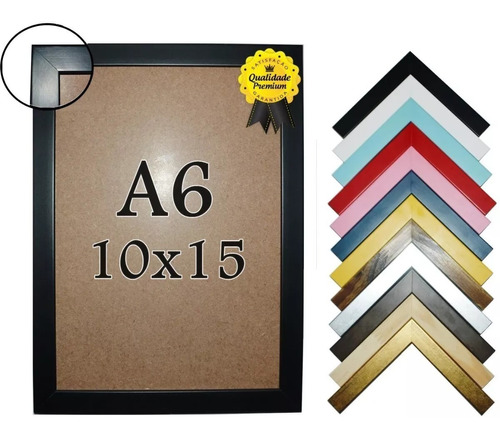 Porta Retrato 10x15cm Padrão Madeira Premium Com Vidro