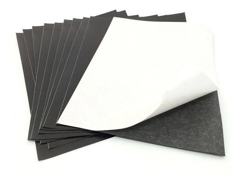 10 Folhas Imã Manta Imantada Adesivada A4 0,3mm