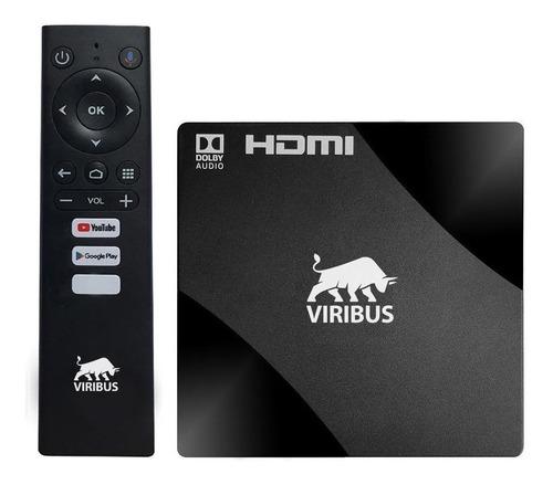 Conversor Smart Tv Box Android 4k 8gb 2gb Ram Viribus Anatel