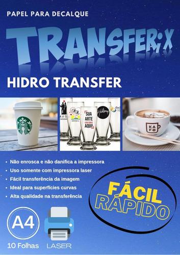 Papel Hidro Transfer Flexível 10 Folhas A4 Transferix