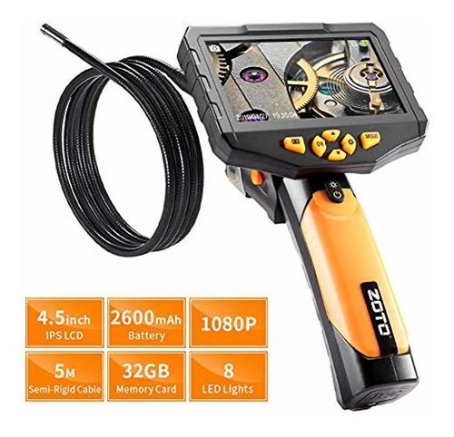 Zoto 1080p Cámara De Inspección Digital Lcd Full Hd De 4,5 P