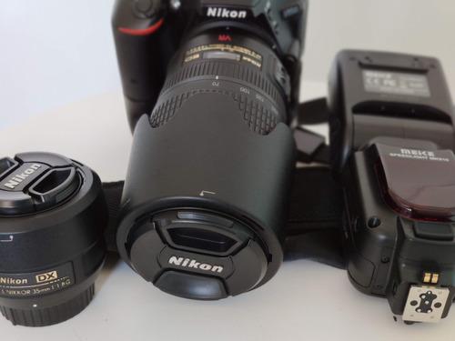 Câmera Dslr Nikon D5500 C/ Super Kit