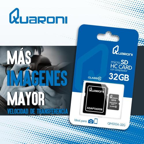 Tarjeta De Memoria Clase 10 Micro Sd 32gb + Adaptador Sd - Ecart