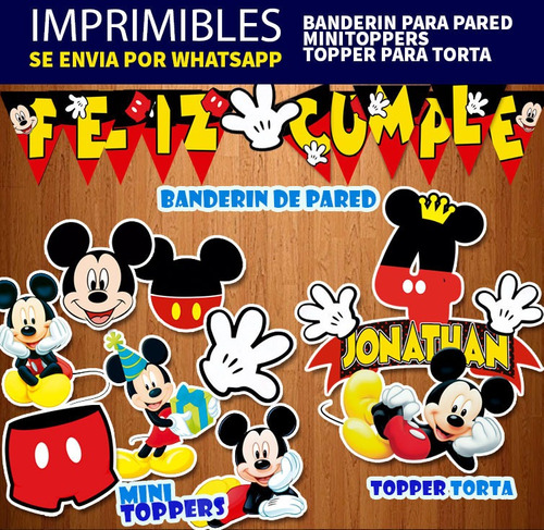 Kit Imprimible Candy Bar Mickey