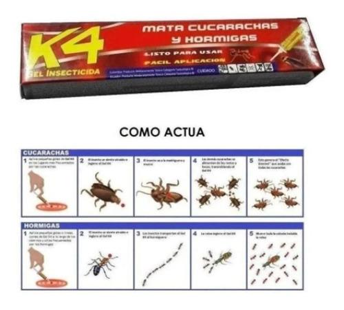 Mata Cucarachas Hormigas Insecticida Gel Efectivo Rapida Acc