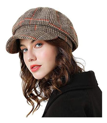 Boina Sumolux Mujer Sombrero De Vendedor De Periodicos Gorra