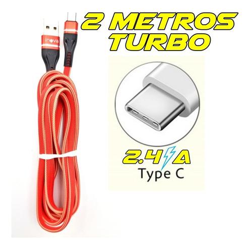 Cabo Usb Tipo C 2a Turbo Reforçado 2 Metros S10 Xiaomi