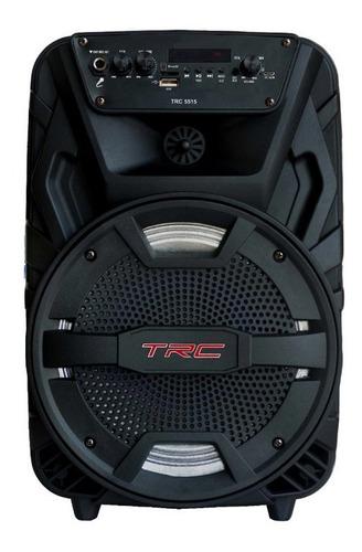 Caixa De Som Bluetooth Amplificada Trc 5515 150w Entrada Usb