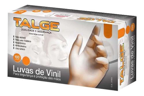 Luva Vinil S/pó Descartável C/100