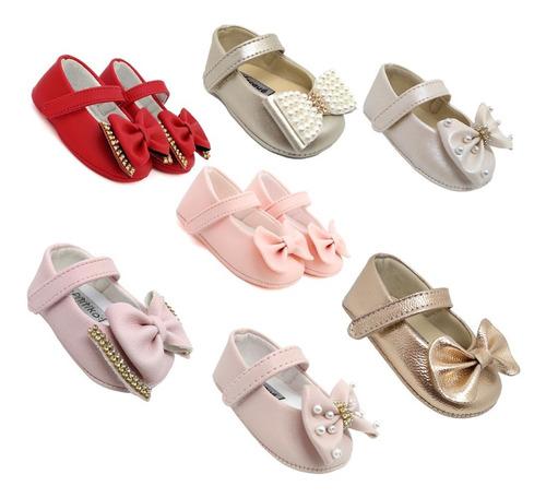 Sapato Bebê Menina Vermelho E Varias Cores Do 14 Ao 18