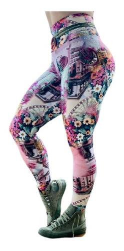 Calça Fitness Legging Fitness Longa Tecido Poliamida Longo