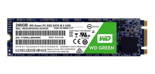 Disco Sólido Interno Western Digital Wd Green Wds240g1g0b 240gb Verde