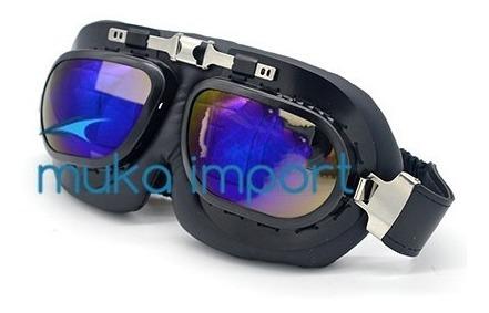 Oculos Motociclista Armação Aluminio Retro Harlley Aviador Z
