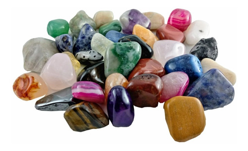 Pedras Brasileiras Mistas 500g Cristal Natural Roladas