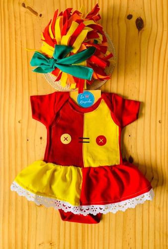 Body Emilia Sitio Bebê Personalizado Fantasia Mesversário