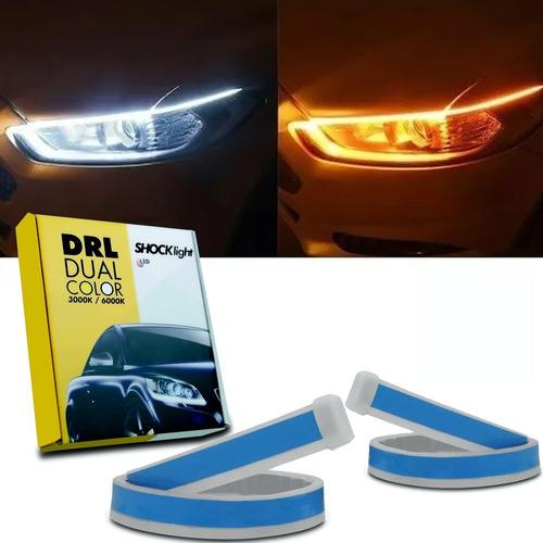 Fita De Led Dual Color Drl Shocklight Farol Dianteiro 60cm