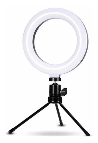 Iluminador Ring Light 6 Polegadas 16cm Usb Led Tripé Mesa