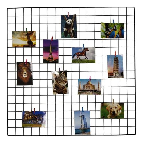 Memory Board Painel Fotos Grande 80x80 Brinde 30 Prendedores