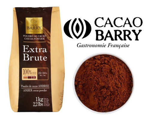 1 Kg Cacao Polvo Cocoa Barry Extra Brute Obscura Reposteria