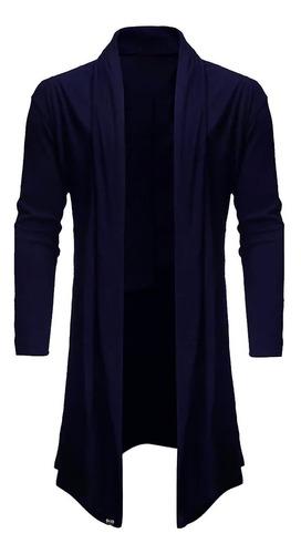 Blazer Cardigan Longo Masculino Casaco Estiloso Fashion