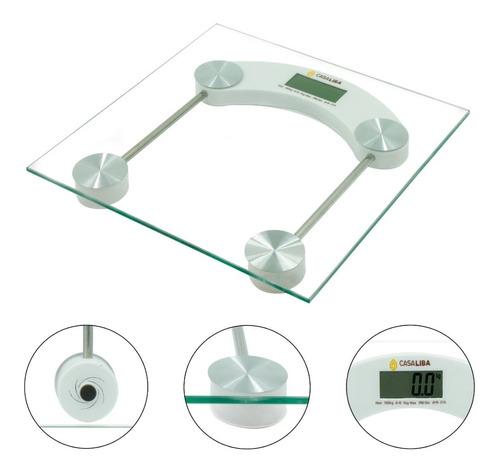 Balança Corporal Digital Vidro Temperado Banheiro Até 180kg