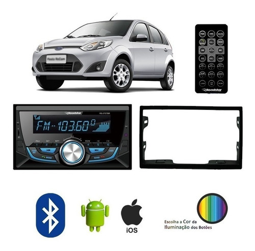 Radio Mp3 2 Fiesta Din Roadstar Bluetooth Rca Fm Ford