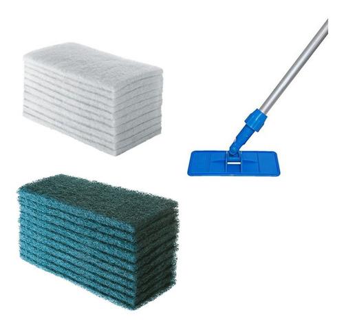 Suporte Limpa Tudo Completo + 10 Fibras Leve + 20 Pesadas