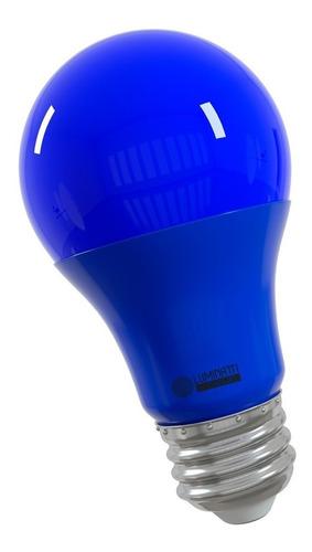 Luminatti - Lâmpada A60 Led 10w Bivolt E27 Azul