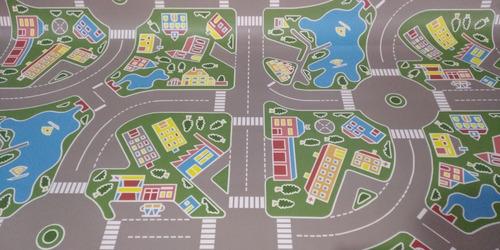 Carpeta Piso  1.50x2mt Vinilico Calles Autos Pista Infantil